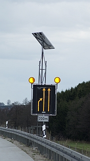 LED Warnschild